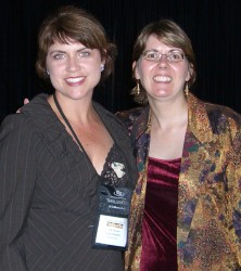 CJ with Lisa Gardner at ThrillerFest